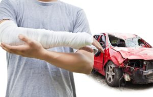 Man's arm injured due to car accident